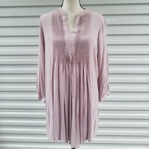 Old Navy pleated mauve mini dress